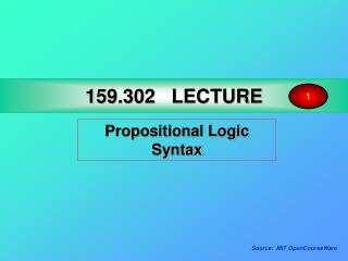 159.302 LECTURE