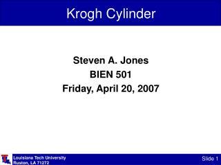 Krogh Cylinder
