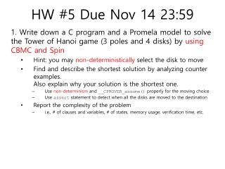 HW #5 Due Nov 14 23:59