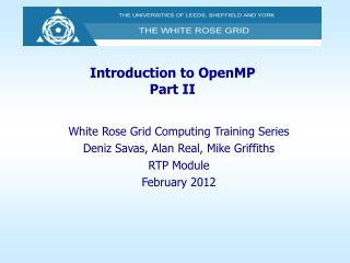 Introduction to OpenMP Part II