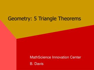 Geometry: 5 Triangle Theorems