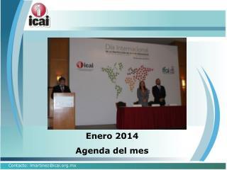 Enero 2014 Agenda del mes