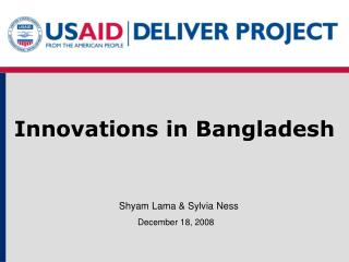 Innovations in Bangladesh