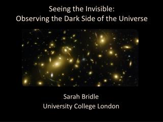 Seeing the Invisible:  Observing the Dark Side of the Universe