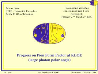 Debora Leone  (IEKP – Universität Karlsruhe) for the KLOE collaboration