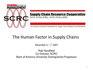 The Human Factor in Supply Chains