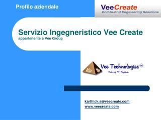 Servizio Ingegneristico Vee Create appartenente a Vee Group