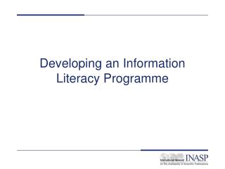 Developing an Information Literacy Programme