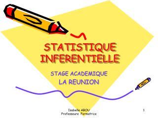 STATISTIQUE INFERENTIELLE