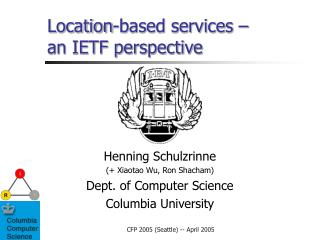 Location-based services – an IETF perspective