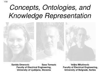 Concepts, Ontologies, and  Knowledge Representation
