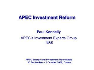 APEC Investment Reform