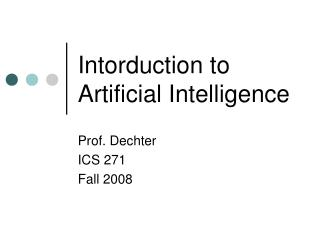 Intorduction to Artificial Intelligence
