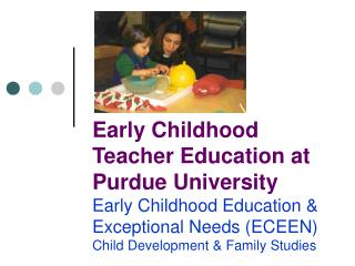 Early Childhood Education & Exceptional Needs