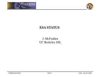 ESA STATUS