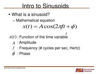 Intro to Sinusoids