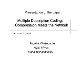 Presentation of the paper: