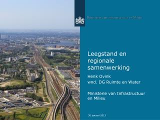 Leegstand en regionale samenwerking