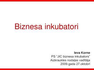 Biznesa inkubatori