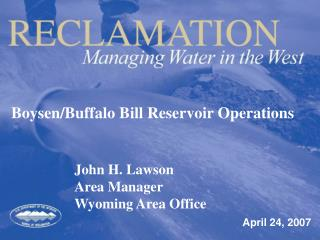 Boysen/Buffalo Bill Reservoir Operations