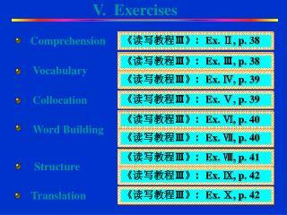 V.  Exercises