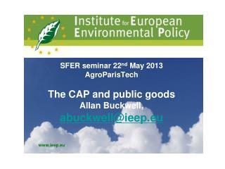 The CAP and public goods