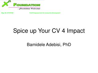 Spice up Your CV 4 Impact