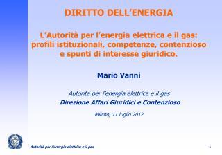 DIRITTO DELL'ENERGIA