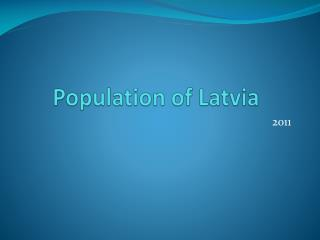 Population of Latvia