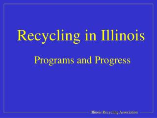 Recycling in Illinois