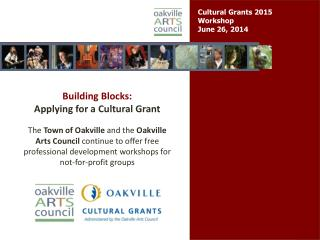 Cultural Grants 2015  Workshop June 26, 2014