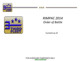 RIMPAC 2014  Order of Battle