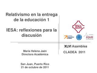 XLVI Asamblea CLADEA  2011