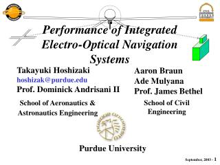 School of Aeronautics & Astronautics Engineering