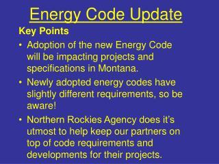 Energy Code Update