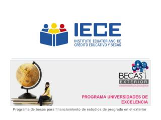 Programa de becas para financiamiento de estudios de pregrado en el exterior