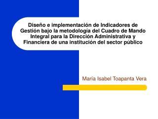María Isabel Toapanta Vera