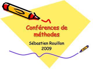 Conférences de méthodes