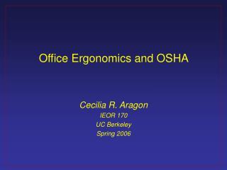 Office Ergonomics and OSHA