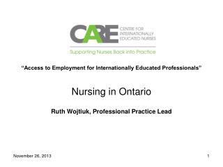 """Access to Employment for Internationally Educated Professionals"""