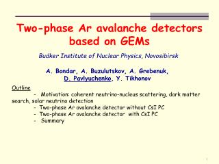 Two-phase Ar avalanche detectors based on GEMs