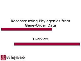 Reconstructing Phylogenies from Gene-Order Data