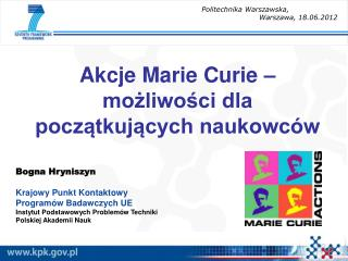 Akcje Marie Curie – możliwości dla początkujących naukowców