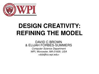 DESIGN CREATIVITY: REFINING THE MODEL