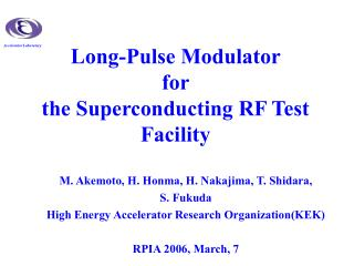 Long-Pulse Modulator  for  the Superconducting RF Test Facility