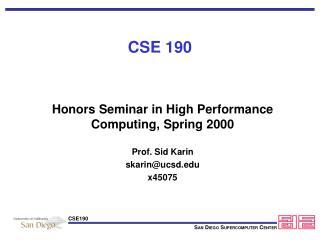 CSE 190