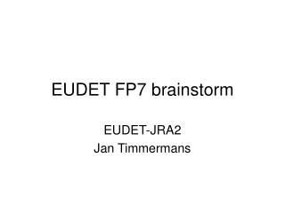 EUDET FP7 brainstorm