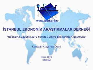 Kantitatif Araştırma Özeti Ocak 2012 İstanbul