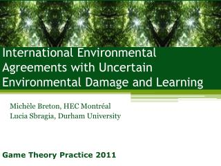 International Environmental Agreements with Uncertain Environmental Damage and Learning