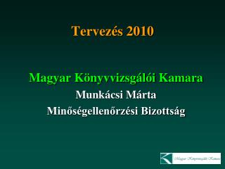 Tervezés 2010